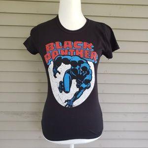 Marvel Black Panther Black T Shirt Size XS